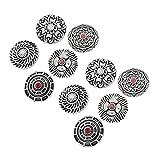 Healifty 10 Piezas Botones Vintage Redondos Decorativos Antiguos Plateados Grabados Retro de aleación de Diamantes de imitación Botones para Coser artesanía