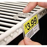 Fold-N-Hold Clear Plastic Double-Wire Shelf Label Holder With Snap Lock Closure - 2 1/4'L x 1 1/4'H