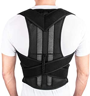 CapsA Posture Corrector for Men and Women Adjustable Back Brace Support Providing Pain Relief Magnetic Shoulder Corrector Support Brace Belt Therapy Comfortable Posture Trainer