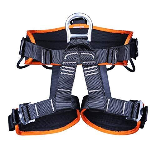 Adesign Rock Climbing Harness, Baum Kletterseil Adjustable Berg Abseilen Sicher Sicherheitsgurte for Männer Frauen (Color : Orange)