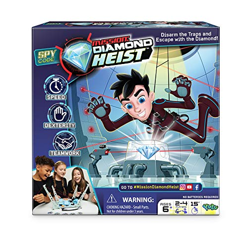 Mission: Diamond Heist - Disarm The Traps and Escape with The Diamond - Teamwork | for Ages 6+ | 2-4 Players