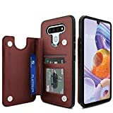 Venoro LG Stylo 6 Case, Credit Card Slot Holder PU Leather Card Pockets Shockproof Flip Wallet Protective Cover Case for LG Stylo 6 6.8inch (Brown)