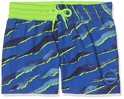O'Neill Jungen PB Neo Jungle Badehose, Blau All Over Print mit Gelb/Orange, 140