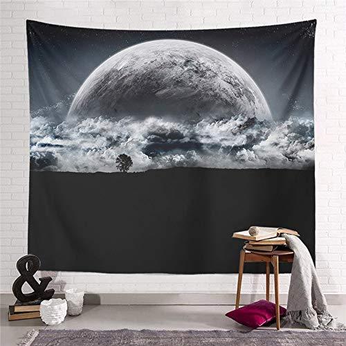 WERT Starry Moon Dream Tapiz Colgante de Pared Decoración para el hogar Sala de Estar Dormitorio Dormitorio Arte Fondo de Tela Toalla de Playa Manta de Picnic A16 150x130cm