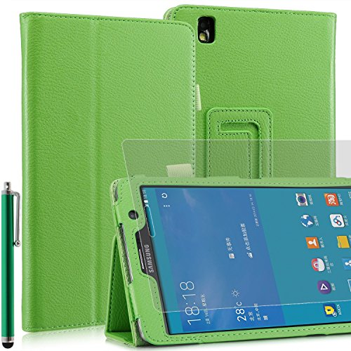 Samsung Tab PRO/Tab 4/Tab S Range Supporto custodie in Pelle, Similpelle, Green, Sam Galaxy Tab PRO 8.4