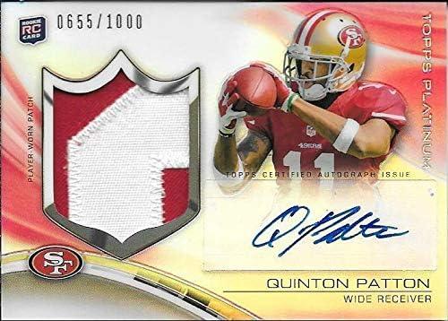 2013 Topps Platinum Ref. Quinton 2 Award Color Patch Patton depot Autograph