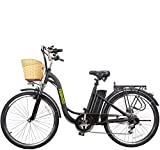 Nakto 26' 250W Cargo-Electric Bicycle 6 speed e-Bike with 36V Lithium Battery Aadult/Young...