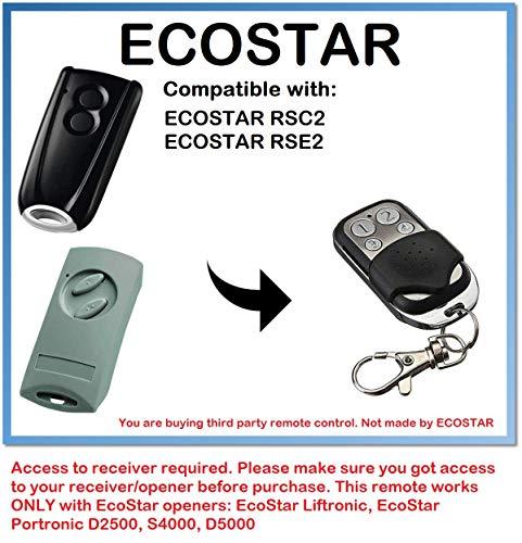 EcoStar RSC2, Ecostar RSE2kompatibel Fernbedienung, Ersatz 433,92MHz, Rolling Code Schlüsselanhänger
