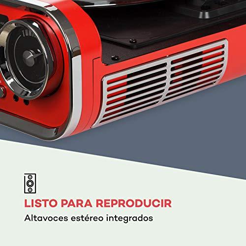 auna Challenger LP Tocadiscos con Altavoces estéreo - Tocadiscos para Vinilo ,...