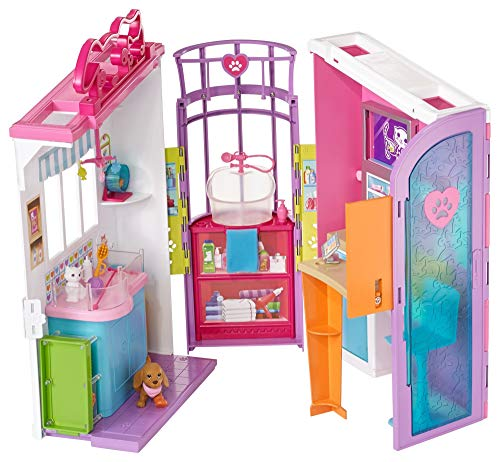 Barbie Clínica de Mascotas, Multicolor, 94 x 40 cm (Mattel FBR36)