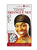 Donna's Premium Cotton Triangle Net Great Use For Rollers (Black)