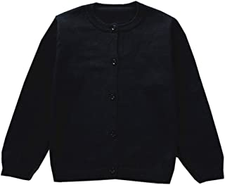 Girls Cotton Cardigan Long Sleeve Kids Button Sweater Crew Neck Cardigans Sweater