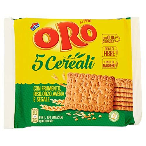 Saiwa Biscotti 5 Cereali con Farina Integrale di Frumento, 400g