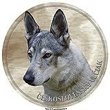 LUKKA Pegatina de perro de lobo checoslovaco de 25 cm