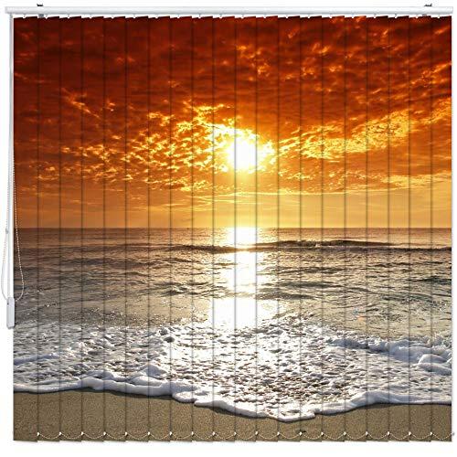 Lamellen-Vorhang mit Motiv Maßanfertigung Komplettset bis 500 cm Stoff Blickdicht Decken- Wand-Montage Sicht-Schutz Vertikal-Jalousie Raumteiler Digitaldruck 2003 Breite 351-400 Höhe 201-250 cm
