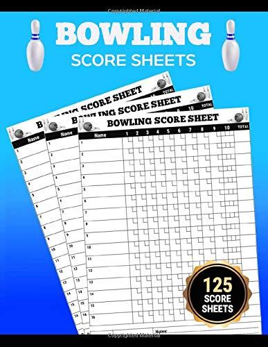 """Bowling Score Sheets: Classic Bowling Score Pads, 120 score sheets, Large 8.5""""x11"""" Pages: Elegant Bowling Score Book for scorekeeper"""