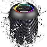 DuoTen Cassa Bluetooth, Altoparlante Bluetooth Portatile Con Luce, IPX7, 24 ore, 20W, Suono Surround A 360 °, Vibrazione Bassi Profondi, TWS, Microfono Integrato, AUX, Micro SD, Per Feste, All'aperto
