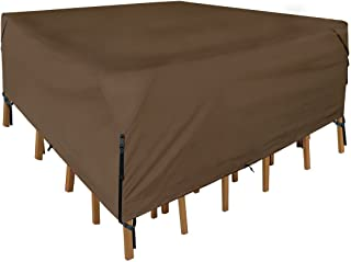 Leader Accessories 600D PVC Tough Canvas 100% Waterproof Square/Round Patio Table & Chair Set Cover Size M 76