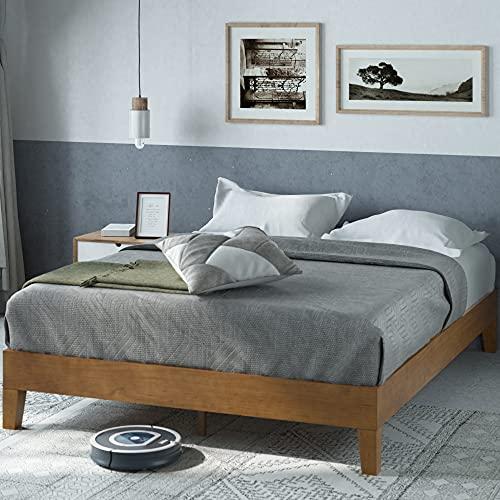 ZINUS Alexis Deluxe Wood Platform Bed Frame / Solid Wood Fou...