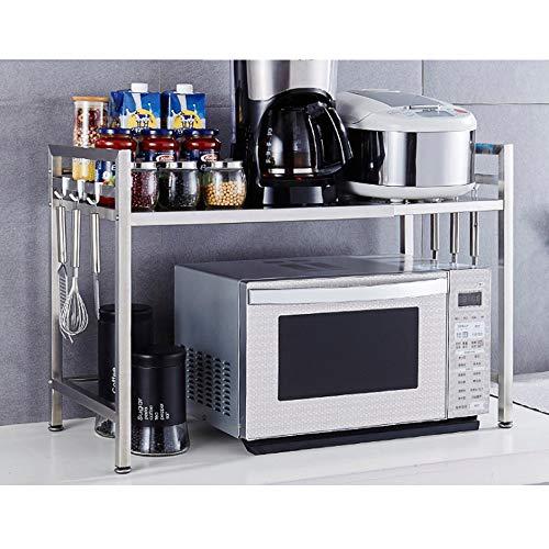 Estantes de horno de microondas espesados en negrita de acero inoxidable retráctil estante de…