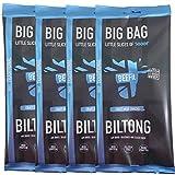 BEEFit Snacks Bolsa de 1kg (4x250g) de Biltong Tradicional, alto en proteínas, saludable,...