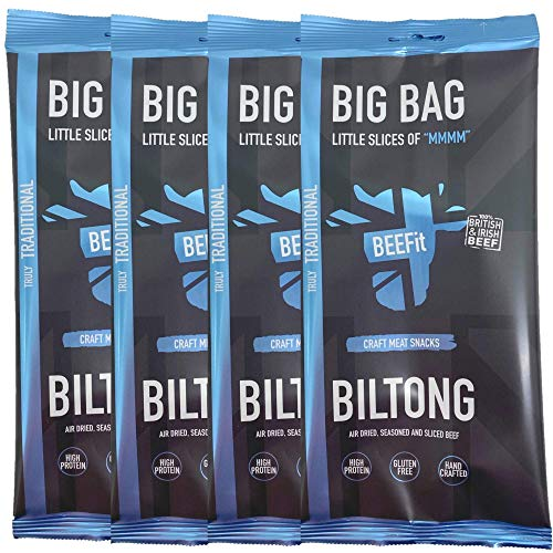 BEEFit Snacks 1kg of Truly Traditional Biltong Meat Snack