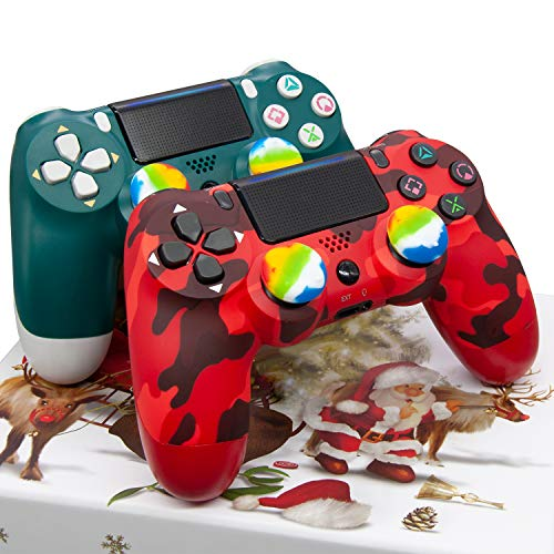 Wireless Controller for PS4 - Remote Joystick for Sony with Charging Cable and Double Shock