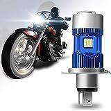 WinPower H4 (P43t)/HS1 LED Kit de conversion de l'ampoule pour phares de moto 30W 5500Lm 6000K Phare de moto haute/basse xénon super brillant blanc 12V, 1 Lampe
