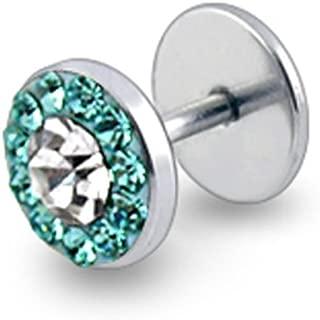 Best aquamarine stone plugs Reviews