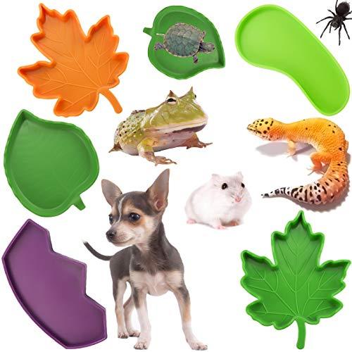 LeonBach 6 Pack Reptile Water Bowls, Reptile Food Dish Tortoise Supplies Snake Water Dish Bathing Bowl Reptile Habitat