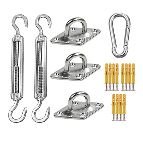DIANPU Shade Sail Accessories,Heavy-duty Shade Shade Sail Fixing Kit, 304 Stainless Steel Hardware Accessory Kit for Rectangular/square/triangular Shade Sail (Triangle)