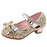 Zapatos Niña Princesa - Talla 26-36 - Zapatos de Fiesta - Arco de Lentejuelas Rhinestone Sandalias de Vestir