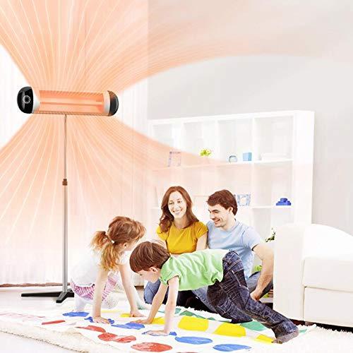 Z IMEI Eléctrico Estufa De Terraza 2500W Calefactor para Terraza con Control Remoto,10 AJUSTES DE Calor,Puede Rotar 360o Radiador De Exteriores para El Patio-Plata 100x180cm(39x71inch)