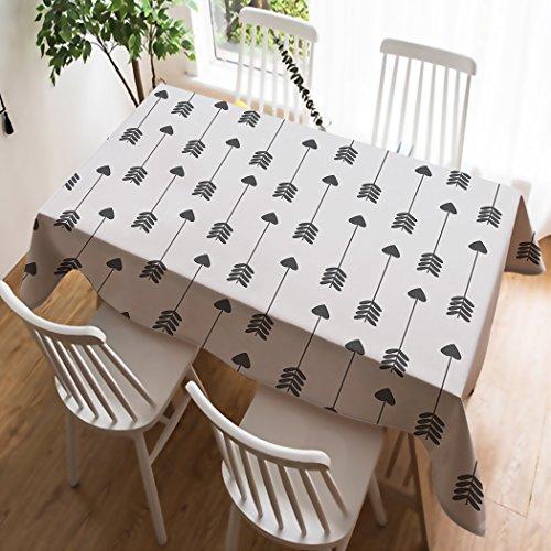 Deconovo Nappe Gris Effet Lin 130x130cm Nappe Carre de Table Basse Semi Imperm/éable pour Cuisine Salon Restaurant