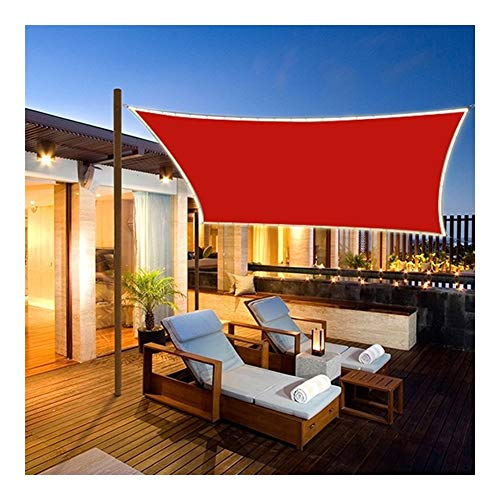 YUDEYU Polyester Cloth LED Lights Shade Mesh 3.6 X 3.6m Sun Protection Outdoor Camping Quadrangle Shelter From The Rain Waterproof (Color : Red)
