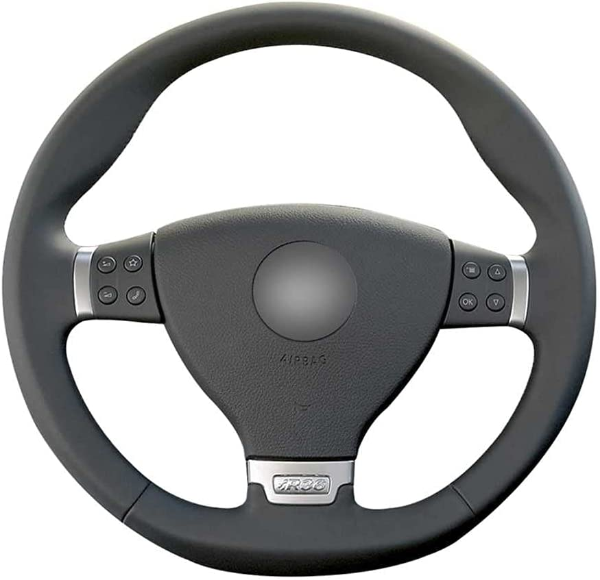 BUQDA Car Handmade Leather 35% OFF Steering Volkswa for Wheel Manufacturer regenerated product Covers Fit