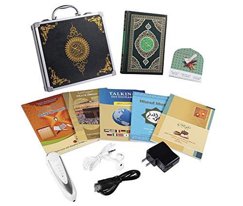 Hitopin Ramadan Coran avec Stylo Lecteur Mot à Mot Tafsir, Sahih Bukhari, Sahih Muslim Stylo Lecteur numérique de Coran Mot pour avec enregistreur Vocal Traduction Dictionnaire Parlant Plus 5 Livres