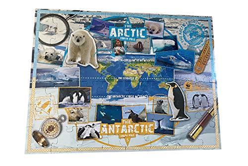 Riesenpuzzle | Bodenpuzzle Polar | Tiere-Puzzle | Puzzle Antarktis | Bodenpuzzle-Kinder ab 3 Jahren | Puzzle 49 Teile für Kinder