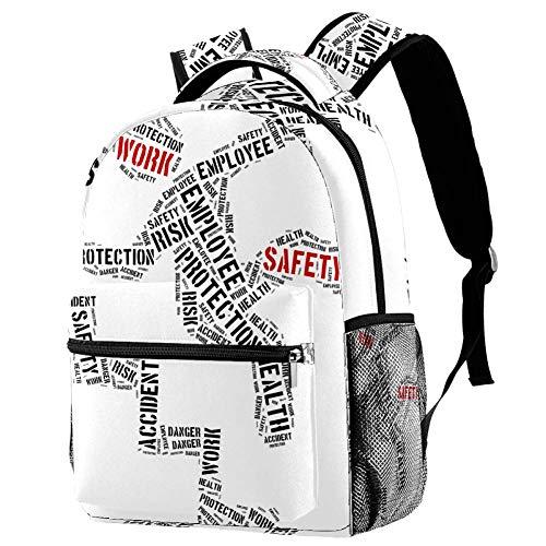 Sicherheitsschild Mädchen Schulranzen Rucksack Gurt Kinder Schulrucksack für Mädchen Elementarschüler Schultasche, Größe: 29,2 x 20,3 x 40,6 cm Mehrfarbig01 29.4x20x40cm/11.5x8x16 in