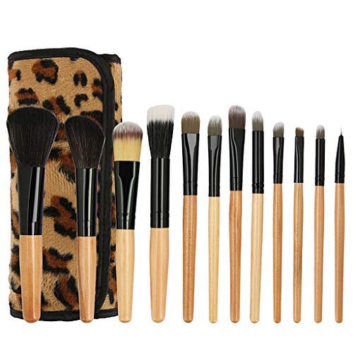 Homyl Set de 12Pcs Brosses Pinceaux de Maquillage Douces pour Poudre de Fondation Fond de Teint Blush Contour Ombre à Paupières Lèvres