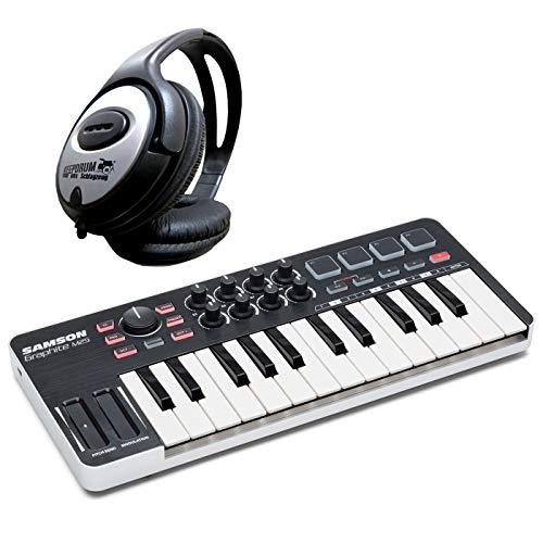 Samson Graphite M25 - Mando de teclado USB y auriculares...