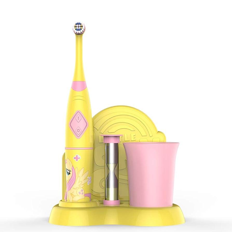 一握りスチール円形子供たちの 回転 電気の 歯ブラシ、 電気の 歯ブラシ と 1 ハンドル、 1 柔らかい 毛 歯ブラシ 頭、 1 歯 カップ、 1 ブラッシング タイマー 防水