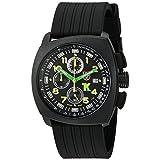 Luminoxメンズ1101Tony Kanaanアナログスイスクォーツ樹脂ゴム腕時計、ブラック