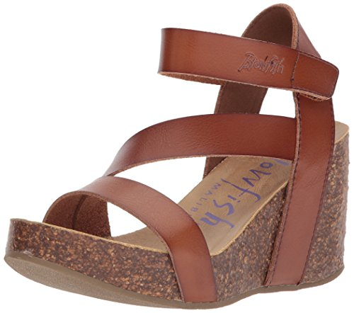 Blowfish Malibu Women's Hapuku Wedge Sandal, Scotch Dyecut, 7.5 Medium US