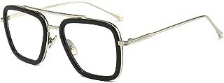 Vintage Aviator Square Sunglasses for Men Women Gold...
