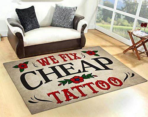 We Fix Cheap Tattoo Area Rug Home Design Idea Living Room Bedroom Floor Mat Carpet
