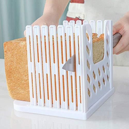 Toast Slicer Bread Toast Slicer Bagel Loaf Slicer Sandwich Maker Toast Slicing Machine Folding and Adjustable Thicknesses Bread Cutter (1)