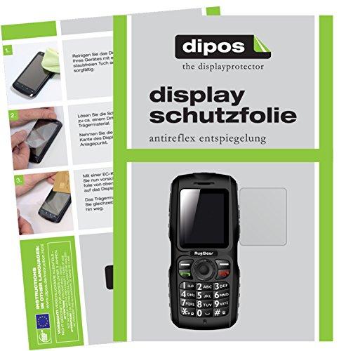 dipos I 2X Schutzfolie matt kompatibel mit RugGear RG100 Folie Bildschirmschutzfolie