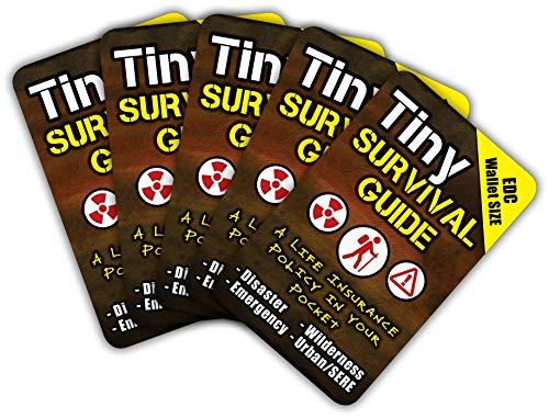Guía de supervivencia diminuta: una póliza de seguro de vida en tu bolsillo – el último 'sobrevivir cualquier cosa' de transporte diario: emergencia y preparación para desastres, paquete de 5