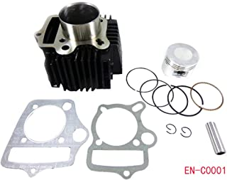 52.4mm Engine Cylinder Body w/Head Gasket and Piston Set for 90cc 110cc 125cc ATV Quad Go Kart Dirt Bike